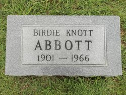 Birdie <I>Knott</I> Abbott