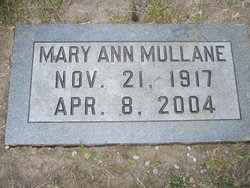 Mary Ann <I>Dicks</I> Mullane