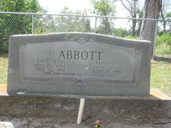"""Annie Lee """"Almie"""" <I>Massey</I> Abbott"""