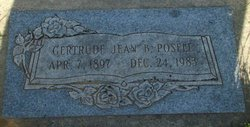 Gertrude Jean <I>Berry</I> Posell