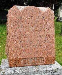 Eliza Jane <I>McKeen</I> Beach