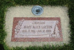 Mary Alice <I>Layton</I> Crosson