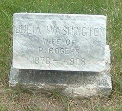 Julia <I>Washington</I> Rogers