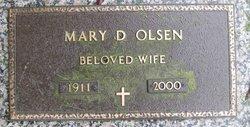 Mary D Olsen