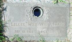 "Lillie ""Wee Wee"" <I>Farris</I> Allen"