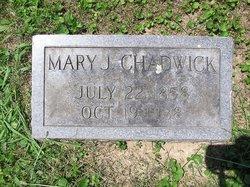 Mary Jane <I>Irons</I> Chadwick