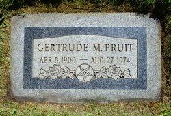 Gertrude M Pruit