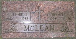Frances H <I>Hughes</I> McLean
