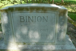 "Izora Frances ""Zora"" <I>Brewer</I> Binion"