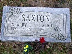Alice Gertrude <I>Husted</I> Saxton