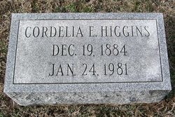 Cordelia Elizabeth <I>Reifsnyder</I> Higgins