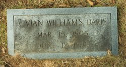 Vivian <I>Williams</I> Davis