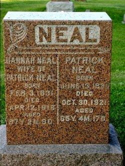 Hannah <I>Hicks</I> Neal