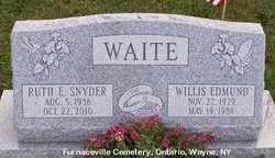Ruth Evelyn <I>Snyder</I> Waite