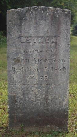 Esther <I>Dorman</I> Alderman