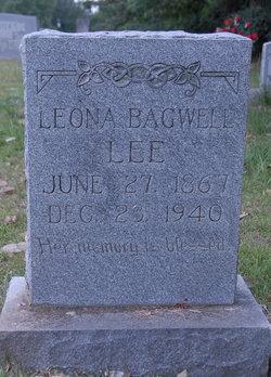 """Leona M. """"Lonnie"""" <I>Bagwell</I> Lee"""