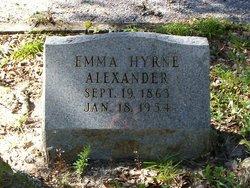 Emma <I>Hyrne</I> Alexander