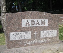 Evelyn Irene <I>Crist</I> Adam