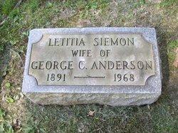 Letitia <I>Siemon</I> Anderson