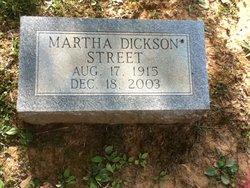Martha Alice <I>Dickson</I> Street