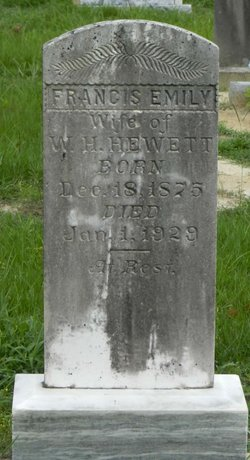 Francis Emily <I>Cox</I> Hewett