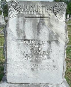 Matilda Elizabeth <I>Lowe</I> McCarter