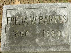 "Fredericka W ""Freda"" <I>Grener</I> Barnes"