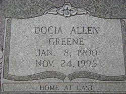 Docia Belle <I>Allen</I> Greene
