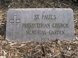 Saint Pauls Presbyterian Memorial Garden
