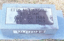 Etta <I>Kuykendall</I> Bingham