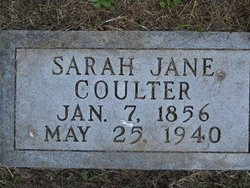 Sarah Jane <I>Yearout</I> Coulter