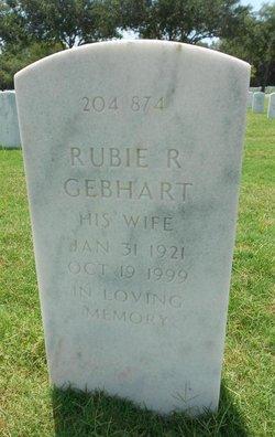 Rubie R Gebhart