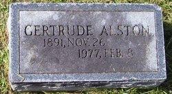 Gertrude Claire <I>Huber</I> Alston