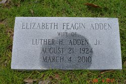 Elizabeth <I>Feagin</I> Adden