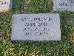 Anne <I>Pollard</I> Anderson