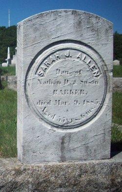 Sarah Jane <I>Barker</I> Allen