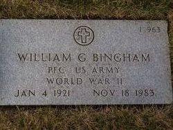 William G Bingham