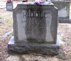 Mary Lou <I>Alberty</I> Riddle
