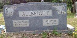 """Sarah May """"Sally"""" <I>Hauck</I> Allbright"""