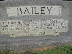 Claude H Bailey