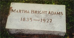Martha <I>Bright</I> Adams