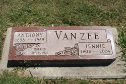 Jennie <I>VanZanten</I> VanZee