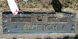 "Mildred A. ""Millie"" <I>Braden</I> Aldrich"