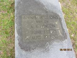 Annie <I>Simmons</I> Benton