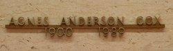 Agnes Adelia <I>Anderson</I> Anderson