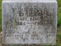 "Wilhelmina O ""Minnie"" <I>Rahl</I> Krueger"