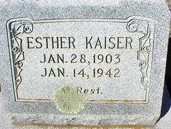 Esther <I>Tatum</I> Kaiser