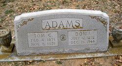 "Caledonia ""Donnie"" <I>Rutledge</I> Adams"