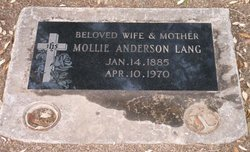 Mollie Louise <I>Crouch</I> Anderson Lang