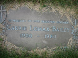 Carrie <I>Lomax</I> Bailey